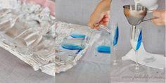 Pullahiiren leivontanurkka: Joulukalenteri - luukku 6: Itsenäisyyspäivä - sinivalkoinen maitovanukas