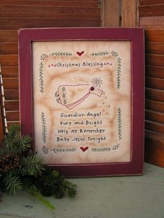 Christmas! - Cedarberry Stitches, Christmas Blessing, $