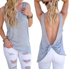 Aliexpress.com : Buy ELSVIOS 2017 Summer O Neck Sleeveless tank top Sexy backless Solid Color Shirt Women tops Cotton Camis Blusa Top Tees from Reliable top cotton suppliers on ELSVIOS Online Store