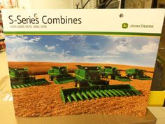 Found this new John Deere S-Series brochure at Tri Green Tractor in Flora.Was happy to see it.This colored brochure has new information on the  S650,S660,S670 including the new &80,000 tracks for the S670,S680,S690