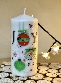 Homemade Candles, Diy Candles, Pillar Candles, Christmas Decoupage, Christmas Crafts, Christmas Decorations, Navidad Diy, Holiday Crochet, Christmas Candles
