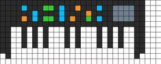 Keyboard perler bead pattern