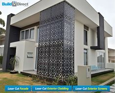 Africa's First and Biggest Laser Cut Building Addition Manufacturer Railing Design, Facade Design, Exterior Design, Window Grill Design, Balcony Design, Modern Architecture House, Facade Architecture, Exterior Wall Panels, House Front Design
