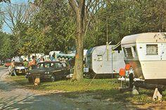 Trailer Park Camp Circa 1970 Michigan