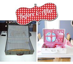 DIY = Picnic/Birthday Party Suitcase  By Prudent Baby