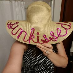 8ce953bab0f Sunkissed Custom Floppy Hat  hatswithwords Beach Hats