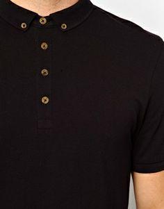 Bild 3 von ASOS – Pikee-Polohemd aus Jersey mit geknöpftem Kragen
