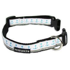 Petflect Anchors Away Reflective Dog Collar ( Large ) #Petflect
