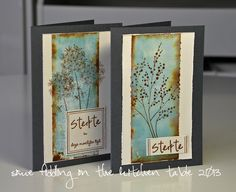 Some fiddling on the kitchen table: Sympathy Cards Nice colour and layout Card Making Inspiration, Making Ideas, Cool Cards, Diy Cards, Sympathy Cards, Greeting Cards, Penny Black Cards, Cardmaking And Papercraft, Beautiful Handmade Cards