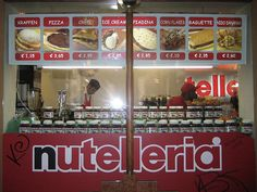 A restaurant that serves everything with nutella...Say what???  I need to visit this place...in Bologna, Italy