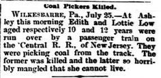 Genealogical Gems: On This Day: Two young coal pickers killed