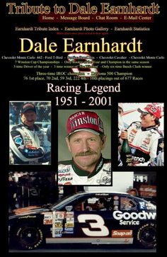 Dale Earnhardt Born April 1951 Passed Away February 2001 49 years young Dale Earnhardt Chevrolet, Dale Earnhardt Jr, The Intimidator, Chevrolet Cavalier, Kyle Larson, Nascar Race Cars, Daytona 500, Daytona Beach, Chevrolet Monte Carlo