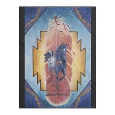 Going Home by Kathy Morrow Fleece Blanket - horse animal horses riding freedom