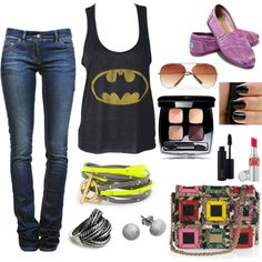 Batman chic, created by kimbee22 on Polyvore