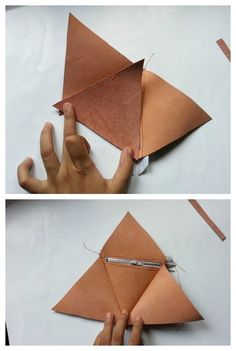 How to sew a leather pouch. Diy Pyramid Leather Pouch - Step 6