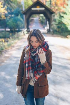 cozy fall Prosecco and Plaid