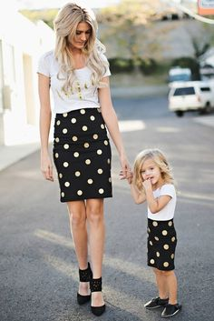 Cute Mommy and Me Outfits Youll Both Want to Wear ★ See more: http://glaminati.com/cute-mommy-and-me-outfits/