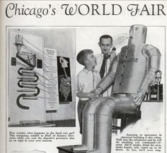 From 1933. He smokes, he sings, he crushes, he destroys.   25 Retro Robots That Will Kill Us All