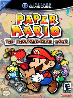 Paper Mario: The Thousand-Year Door (Nintendo), GameCube; role-playing video game developed by Intelligent Systems & published by Nintendo, it is the 2nd game in the Paper Mario series. The player controls Mario, although Bowser & Princess Peach are playable at certain points. Plot follows Mario's quest as he tries to retrieve the 7 Crystal Stars & rescue Peach from the X-Nauts. Won RPG of the Year award at the 2005 Interactive Achievement Awards.