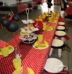 Red Minnie Mouse theme party hire packages for children in Perth, WA