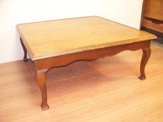 antigua mesa cuadrada de sala ratona estilo frances luis xv