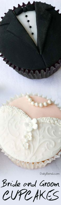 Bride and Groom Cupcakes Wedding Trend | DailyBend.com