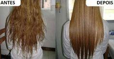Método caseiro para deixar os cabelos lisos