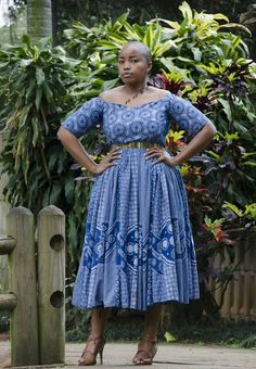 15 latest Shweshwe styles we love 2019 - Our Nail African Lace Dresses, Latest African Fashion Dresses, African Wedding Attire, African Attire, Seshoeshoe Dresses, African Fashion Traditional, Shweshwe Dresses, Surprise Baby, Style Fashion