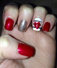 Cute nails for valentines...or any occasion<3