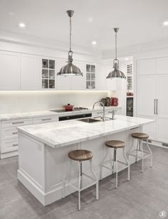 Kitchen Design I Calcutta Marble Photograph by the talented Jackie Banks