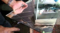 Cortando ovalo de espejo de 5mm