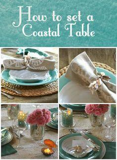 how to set a beachy tablescape  {coastal}