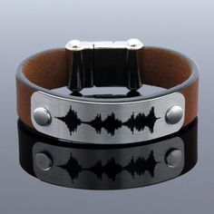 Personalized Bracelet Sound Waves Bracelet Voice Recording