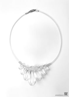 BUBBLE SMALL_necklace_MADE IN ITALY_design / manufacture: James di Marco_material: methacrylate plastic