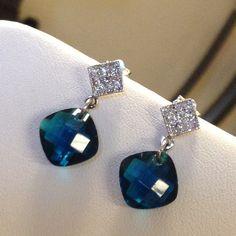 Earrings Cubic Zirconia .925 Sterling Silver High quality .925 Sterling Silver Jewelry Earrings