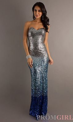 Long Sequin Gown by Dave and Johnny 8771 at PromGirl.com definitely has wow factor