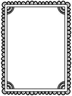 Frame Border Design, Page Borders Design, Doodle Frames, Borders For Paper, Borders And Frames, Colouring Pages, Coloring Books, Page Boarders, Page Frames