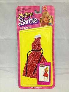 NIP 1981 My First Barbie Fashions Red Dress #3673 Vintage Doll Clothing 80s