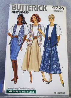 1990 Uncut  Fast and Easy Butterick Pattern by lovelylovepatterns, $4.00
