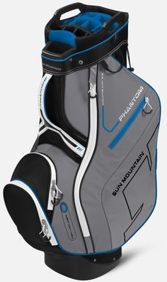 New for 2015, the Phantom is a mid-sized, full-featured, riding cart bag. For convenience, all pockets are front-facing so they are accessible when the golf bag is on a cart and the top has two integrated lift-assist handles for lifting the bag on and off the cart.