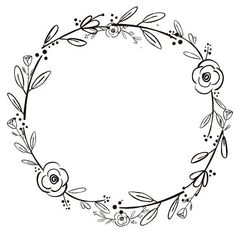 Black Clipart Black Flowers Handdrawn Wreath Clipart Minimalist Wreath Rustic Wreath Black Clipart B Hand Embroidery Patterns, Embroidery Stitches, Embroidery Designs, Clipart Black And White, Black And White Drawing, Cursive Alphabet, Wreath Drawing, Black Flowers, Art Flowers