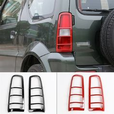 52.63$  Buy now - http://aliulq.worldwells.pw/go.php?t=32781657463 - ABS Rear Light Decoration Cover Car Sticker Suitable for Suzuki Jimny Car Styling Accessories 52.63$