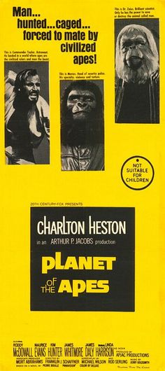 best line of the movie, 'Take your stinking paws off me, you damned dirty ape!' George Taylor - Planet of the Apes