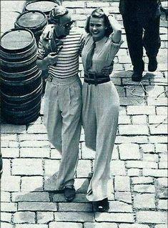 Leslie Howard & Ingrid Bergman