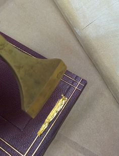 My Handbound Books - Bookbinding Blog: PBI 2014: Line by Line, An Introduction to Gold Finishing