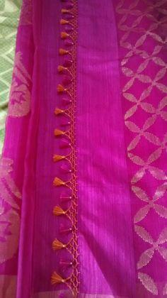 Kuchu design 7 Saree Tassels Designs, Saree Kuchu Designs, Punjabi Dress, Saree Blouse Patterns, Bridal Outfits, Beautiful Saree, Indian Designer Wear, Saree Collection, Clothes For Women