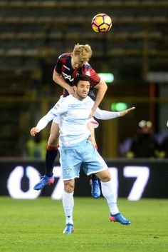 Filip Helander # 18 of Bologna FC heads the ball during the Serie A match between Bologna FC and SS Lazio at Stadio Renato Dall'Ara on March 5, 2017 in Bologna, Italy.
