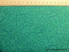 Tyrkis retro patchworkstof - ens - er et flot stykke tyrkis lille mønstret patchworkstof