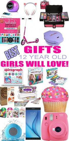 Top gifts for 12 year old girls! best suggestions for gifts & presents for a girls twelfth birthday, christmas or just because. find the best gifts, makeup, Bday Gifts For Him, Birthday Presents For Girls, Best Gifts For Girls, Tween Girl Gifts, Christmas Gifts For Girls, Christmas Birthday, Christmas Presents, Girls Presents, Christmas Ideas