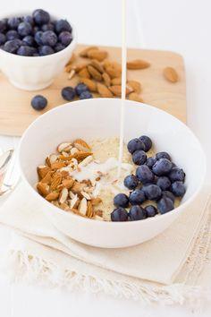 Creamy Millet Almond Power Porridge! A creamy, healthy, and fast breakfast. {Gluten-Free, Dairy-Free}